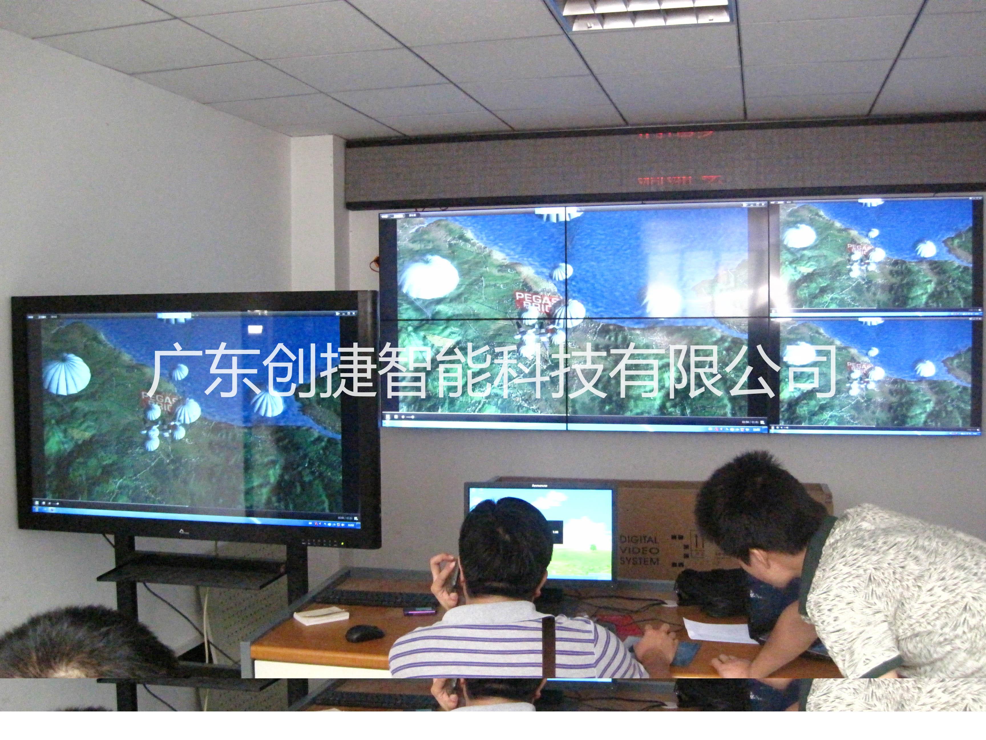 郧西县涧池乡政府信息化管理46寸液晶拼接屏项目